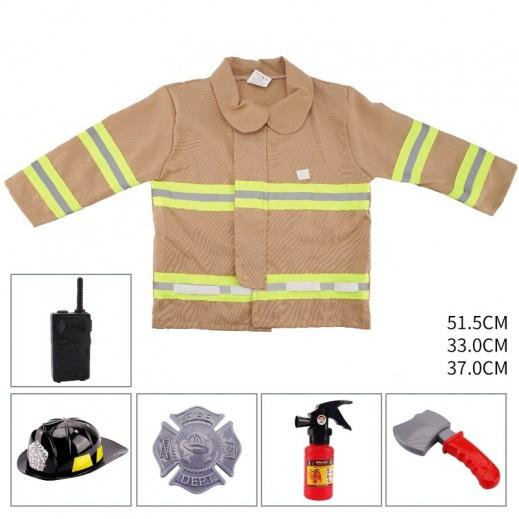 ملابس رجل إطفاء حريق للأطفال مقاس موحد - 3 سنوات فأكثر