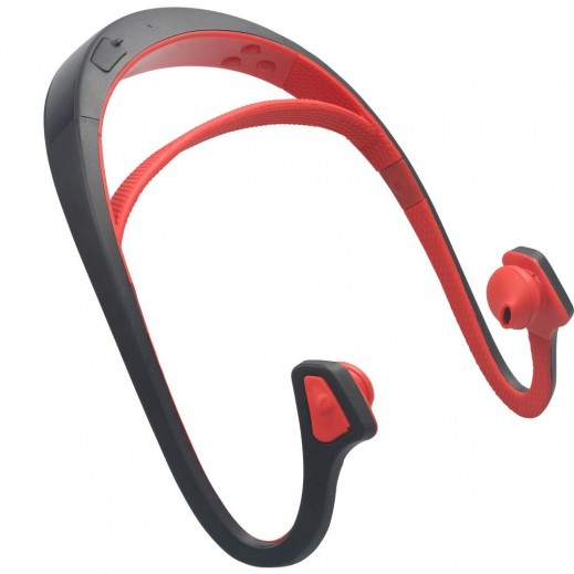 بروميت – سماعة رأس بلوتوث رياضية مع ميكروفون – احمر