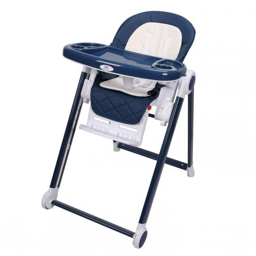 ذا كيدوز - كرسى مرتفع بدواسات قابلة للتعديل أزرق داكن