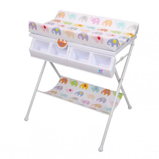 (ذا كيدوز - طاولة تغيير الحفاضات والحمام بتصميم الفيل - (0 - 3 سنوات