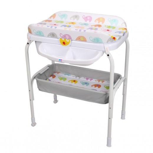 (ذا كيدوز - طاولة تغيير الحفاضات والحمام بتصميم حيوانات - (حديثى الولاده
