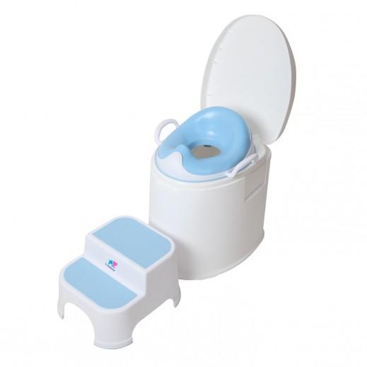 ذا كيدوز - مقعد تدريب الأطفال على إستخدام الحمام  - أزرق