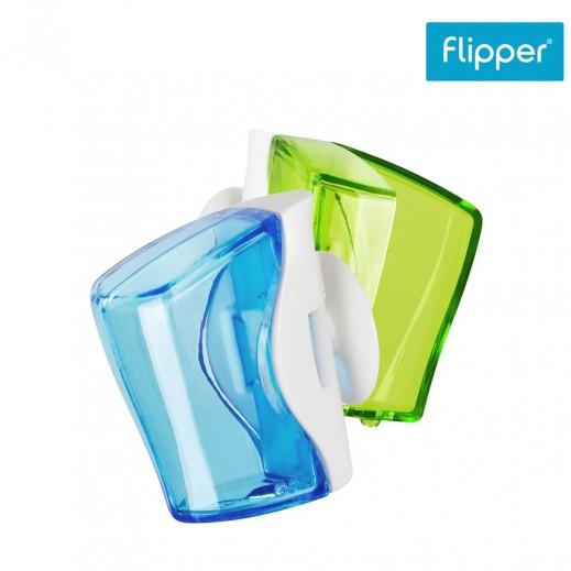 فليبير - حامل فرشاة الأسنان أخضر وأزرق