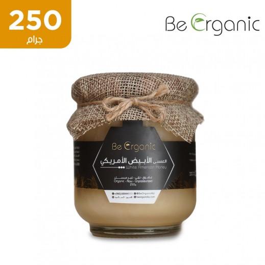 بي اورجانيك – عسل أبيض أمريكي خام غير مبستر 250 جم