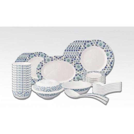 ميلتون – طقم وعاء ميلامين لتقديم الطعام أزرق 42 حبة