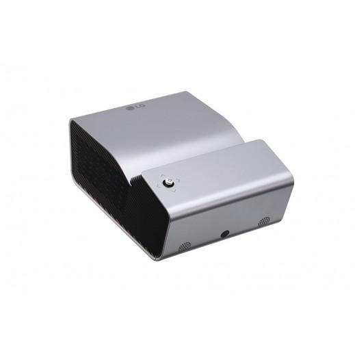 إل جي – بروجكتور لاسلكي MiniBeam UST عالي الجودة LED FHD بقوة 450 لومينز مع بطارية مدمجة – فضي - يتم التوصيل بواسطة Al Babtain Electronics Company