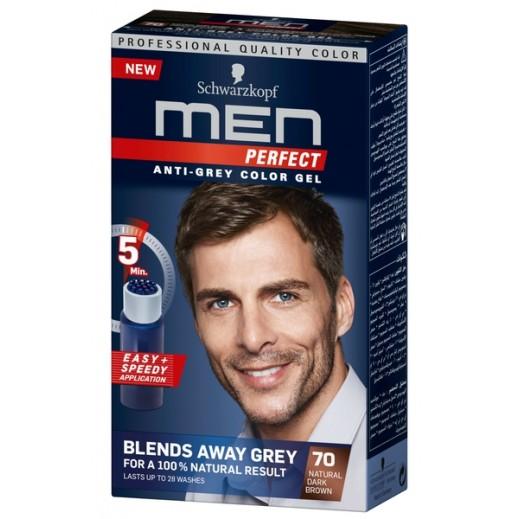 Men Perfect Anti Grey Toner Gel 70 Dark Brown 115 ml