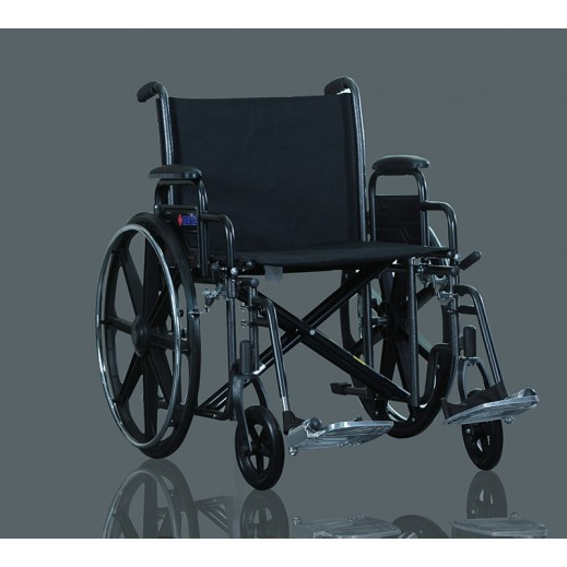ميريتس – كرسي متحرك ستيل للأوزان الثقيلة عرض 56 سم سعة 200 كجم - يتم التوصيل بواسطة التوصيل بعد يومين عمل  بواسطة العيسى
