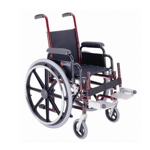 ميرتس – كرسي ميرتس المتحرك للاوزان الثقيله - ستيل - يتم التوصيل بواسطة Al Essa Company