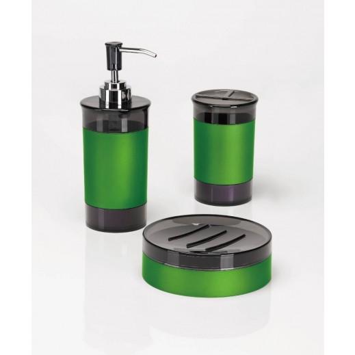 3 قطع باللون الأخضر من اكسسوارات الحمام
