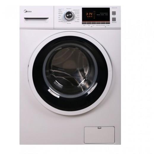 ميديا – غسالة ملابس تحميل أمامي 10 كجم 16 برنامج غسيل – أبيض - يتم التوصيل بواسطة EASA HUSSAIN AL YOUSIFI & SONS COMPANY