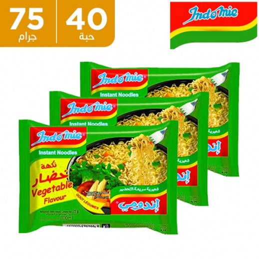 إندومي – شعيرية سريعة التحضير بنكهة الخضروات 75 جم (5 × 8)