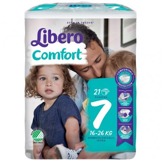 ليبرو – حفاضات أطفال كومفرت فيت المرحلة 7 (16 - 26 كجم) 21 حبة