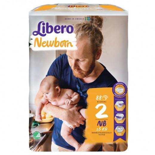 """ليبرو – حفاضات أطفال """" بيبي سوفت """" المرحلة 2 ( 3 – 6 كجم ) 88 حبة"""