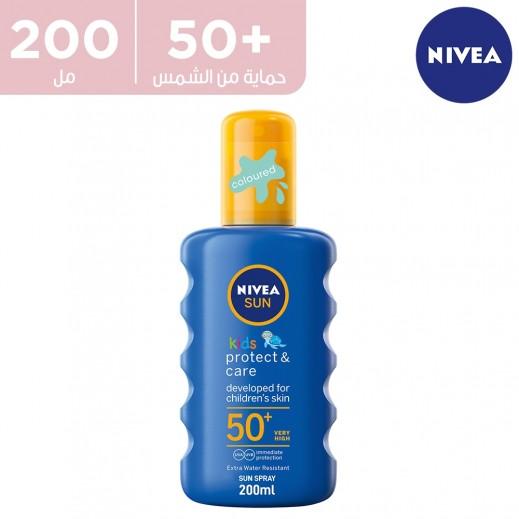 نيفيا -  بخاخ واقي شمس للأطفال +SPF 50 حماية من الأشعة فوق البنفسجية 200 مل