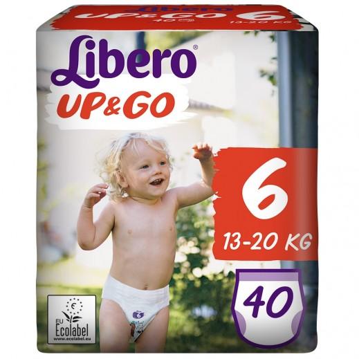 """ليبرو –  كلوت الأطفال """"أب أند جو"""" المرحلة 6 من 13 – 20 كجم - 40 حبة"""
