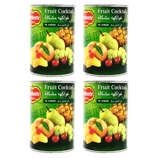 سعر جملة - كوكتيل فواكه دل مونتي في عصير مركّز ( 4 × 420 جم)