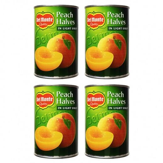 دل مونتي - أنصاف خوخ (دراق) في عصير مركز 4 حبة × 420 جم – أسعار الجملة