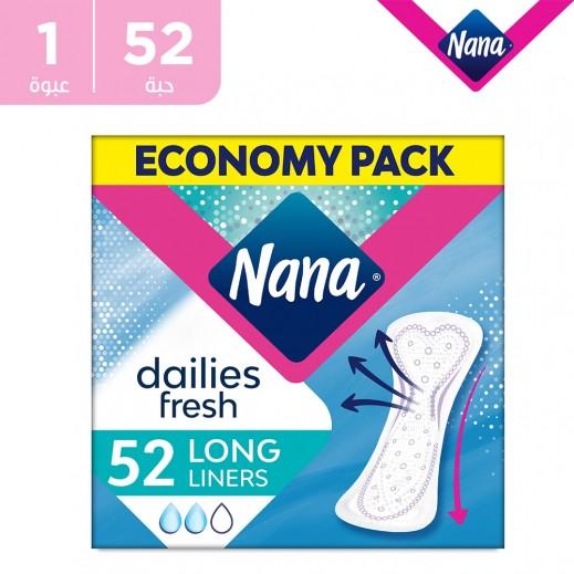 نانا فوط صحية الانتعاش اليومي الطويلة عبوة اقتصادية 2 × 26 فوطة