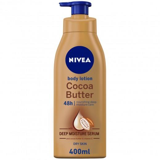 نيفيا_ لوشن الجسم كوكا باتر زبدة الكاكاو للبشرة الجافة 400 مل