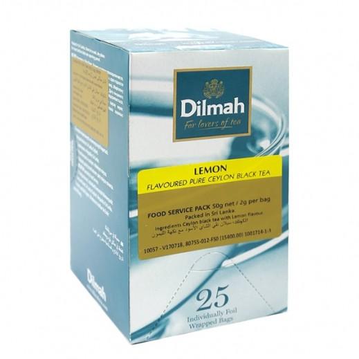 دلما – شاي أسود سيلاني نقي مع نكهة الليمون 25 كيس