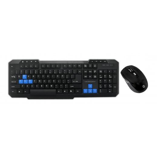 ميكرو ديجيت - لوحة مفاتيح لاسلكية مع ماوس