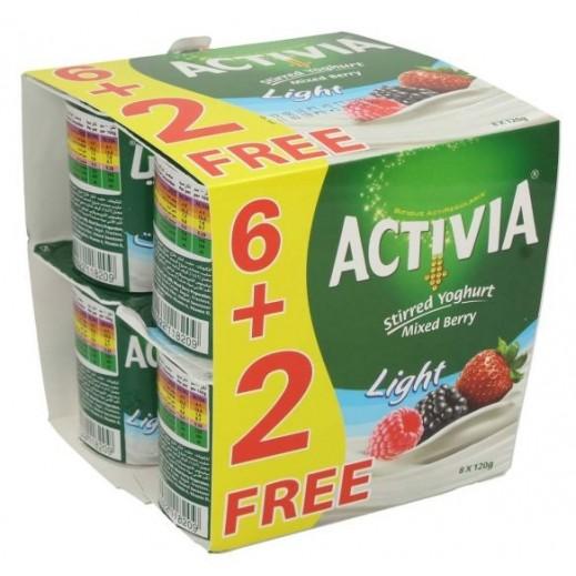 أكتيفيا – روب لايت مشكل بالتوت 120 جرام (6+2 مجانا)