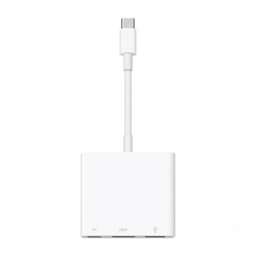 أبل – محول  AV-USB-C ديچيتال متعدد المنافذ – أبيض