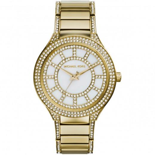 مايكل كورس - كيري ساعة اللؤلؤ الدائرية ذات اللون الذهبي للسيدات - يتم التوصيل بواسطة My Fair Lady