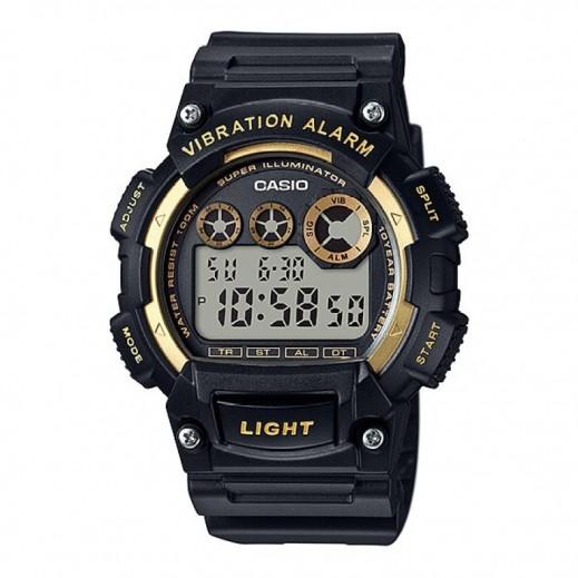 كاسيو - ساعة يد رقمية رجالي بسوار أسود راتنج - يتم التوصيل بواسطة Veerup General Trading