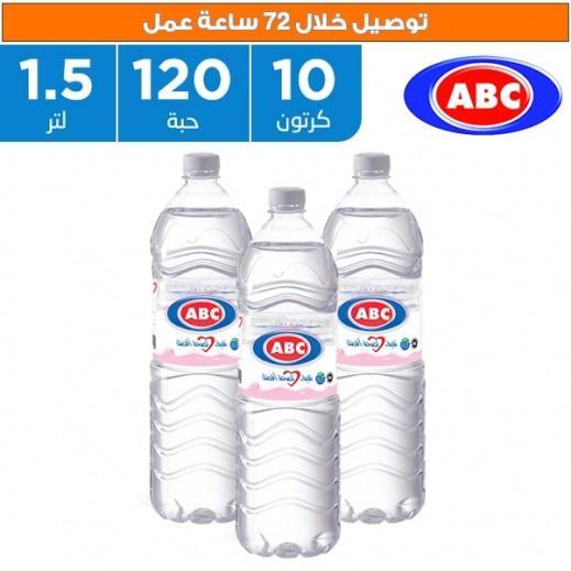 أي بي سي - مياه شرب طبيعية 12 × 1.5 لتر  - يتم التوصيل بواسطة ABC خلال 72ساعة عمل