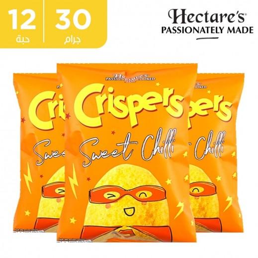 اشتر هيكترز رقائق بطاطس كريسبر خالية من الغلوتين بطعم الفلفل الحلو 12 × 30 جم + 1 كرتون نكهة مجانا