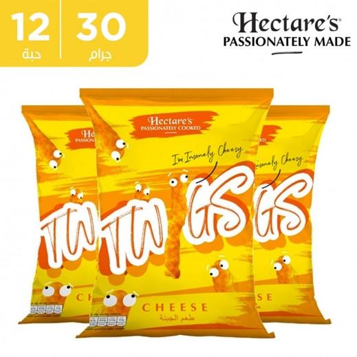 هيكترز تويجز خالي من الجلوتين بنكهة الجبنة 12 × 30 جم + 1 كرتون مجانا