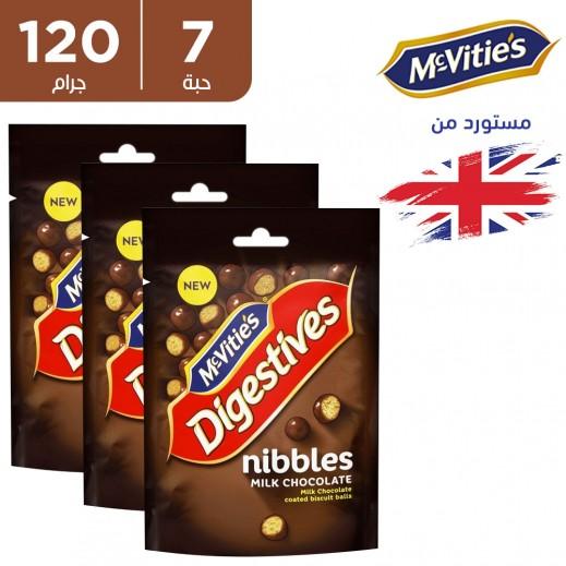 ماكفيتيز - دايجستف كرات الشوكولاتة نبلز بالحليب 7 × 120 جم