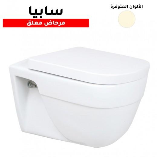أكواسان - مرحاض سابيا افرنجي معلق مع غطاء  - يتم التوصيل بواسطة Aquasan After 3 Working Days