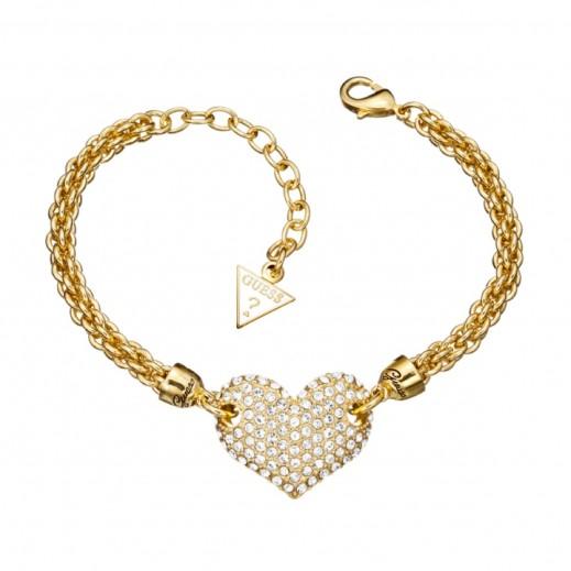 Guess Bracelet Gold Heart - يتم التوصيل بواسطة Beidoun