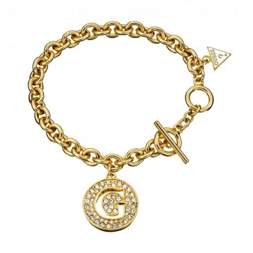 Guess Bracelet Small G Disc Gold - يتم التوصيل بواسطة التوصيل بعد 4 أيام عمل بواسطة بيضون