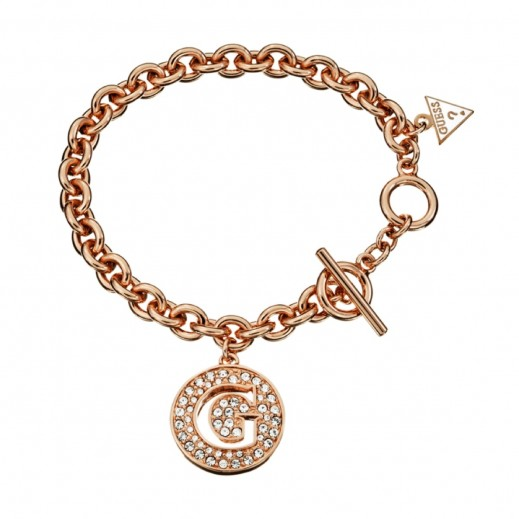 Guess Bracelet Small G Disc Rose Gold - يتم التوصيل بواسطة Beidoun