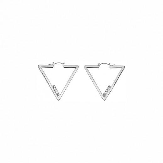 Guess Earrings Iconically - Silver - يتم التوصيل بواسطة التوصيل بعد 4 أيام عمل بواسطة بيضون