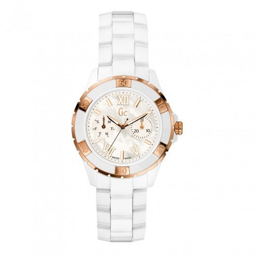 """جي سي - """"سبورت كلاس"""" ساعة يد للنساء - مصنوعة من السيراميك - يتم التوصيل بواسطة Beidoun"""
