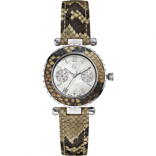 """جي سي - """"شيك بيتون باترن"""" ساعة يد للنساء - يتم التوصيل بواسطة التوصيل بعد 3 أيام عمل بواسطة بيضون"""