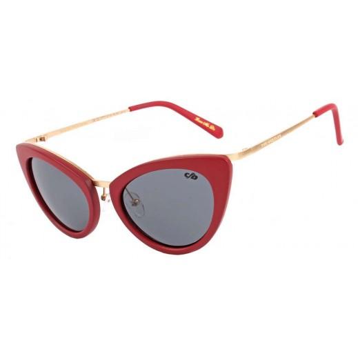 (OC.CL.1777.116) تشيلي بينز نظارة شمسية كلاسيكية للنساء أسود × أحمر - يتم التوصيل بواسطة F3 Sunglasses