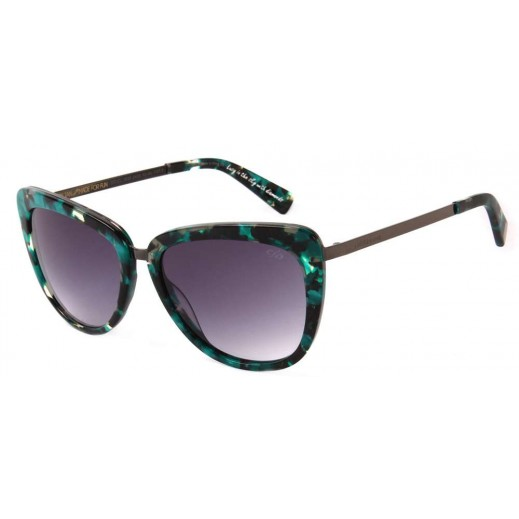 (OC.CL.1835.426) تشيلي بينز نظارة شمسية كلاسيكية للنساء رمادى × أخضر داكن - يتم التوصيل بواسطة F3 Sunglasses