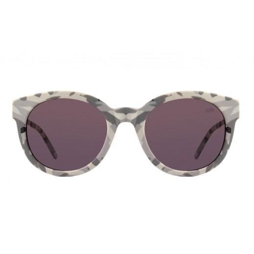 تشيلي بينز نظارة شمسية كلاسيكية للسيدات - رمادى / رمادى - يتم التوصيل بواسطة F3 Sunglasses