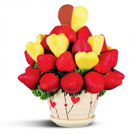 حصلت على قلبى - يتم التوصيل بواسطة Fruit Art