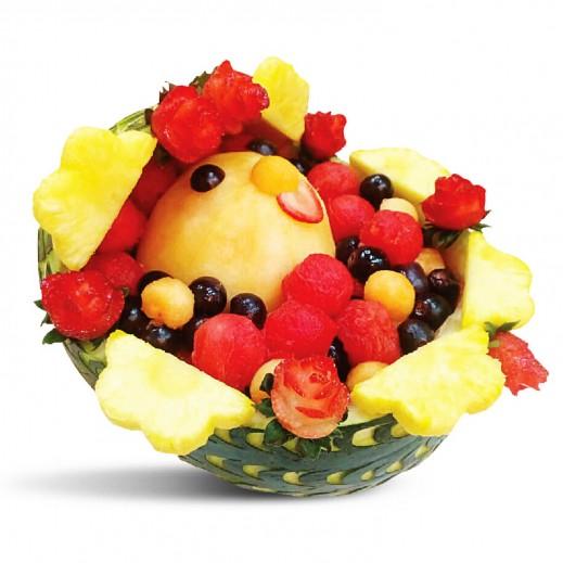 باقة المولود الجديد - يتم التوصيل بواسطة Fruit Art