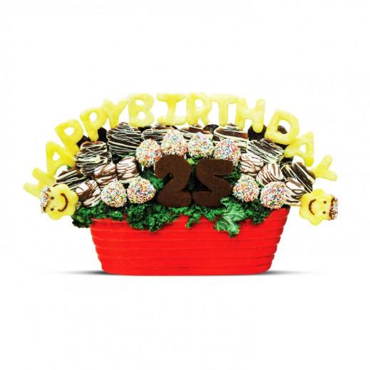 باقة عيد ميلاد - يتم التوصيل بواسطة Fruit Art