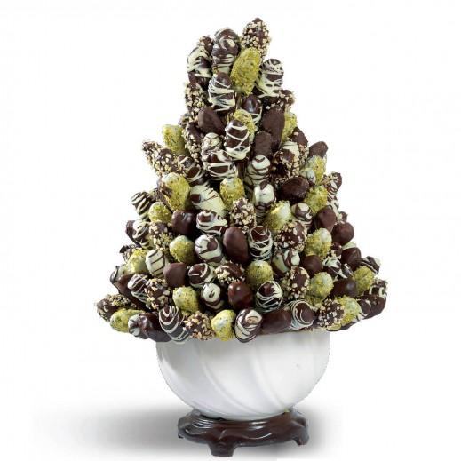 باقة الفواكة بالشوكولاتة - يتم التوصيل بواسطة Fruit Art