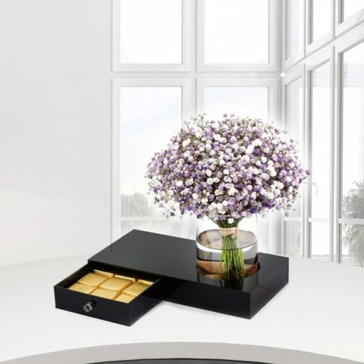 زهور الجيبسوفيلا البنفسجية - يتم التوصيل بواسطة Gate Of Flowers