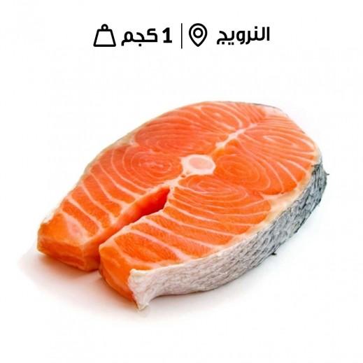 سمك سلمون النرويج الطازج - مُنظف (1 كجم تقريباً)  - يتم التوصيل بواسطة سمك إكسبرس خلال 24 ساعة